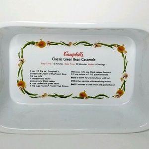 2012 Campbell Soup Ceramic Green Bean Casserole